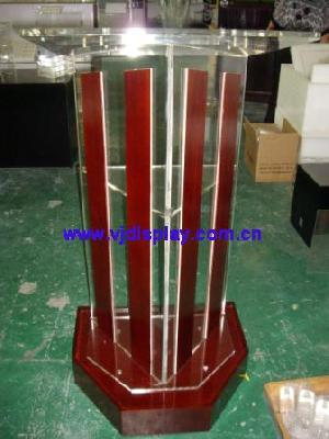 acrylic lectern wood base