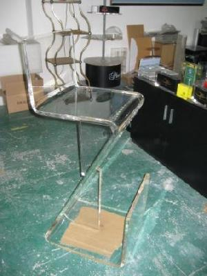lucite bar stool
