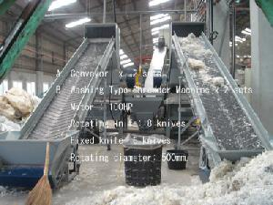 recycled washing crushing pelletizer machines