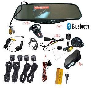 wireless bluetooth rearview mirror parking sensor wbt 728sec4