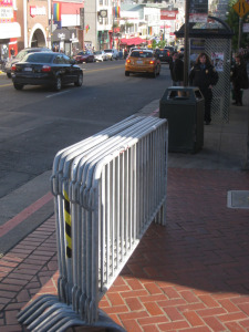 event barricades fencing