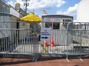 pedestrian control temporary barricades usa