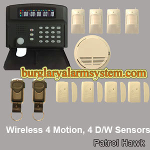 sms intruder alarm notification