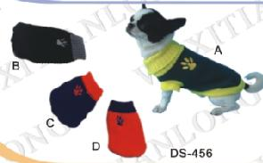 dog embroideried footprints sweater