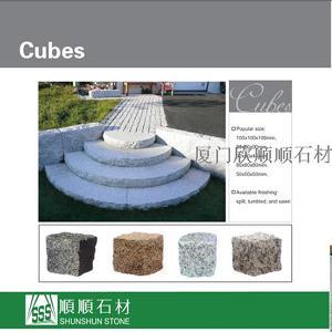 stone granite cubes paving