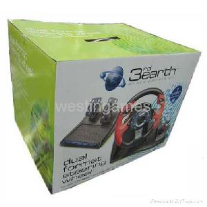 ps2 xbox 2in1 dual format steering wheel 3rd earth