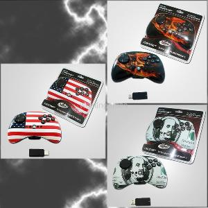 ps3 2 4g wireless controller streetpad colorful sticker