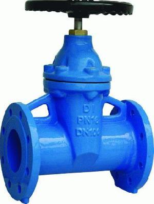 din 3202 f5 cast iron flange resilient seat gate valve