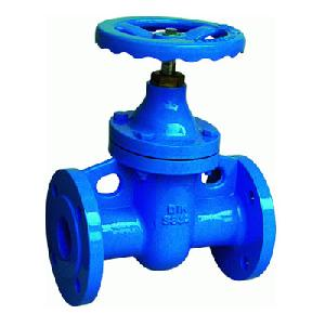din cast iron f5 flanged gate valve metal seated