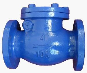 jis 10k cast iron flanged swing check valve