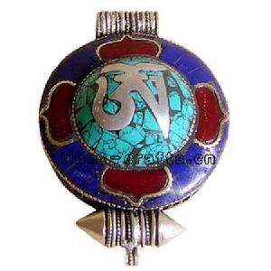 tibetan ghau om symbol prayer box