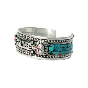 turquoise om mani padme hum dragon bracelet