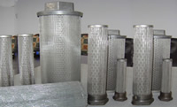 stainless steel pleated cylinder filter elements
