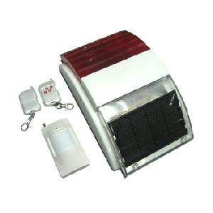 solar powered wireless sound light warning launch modules