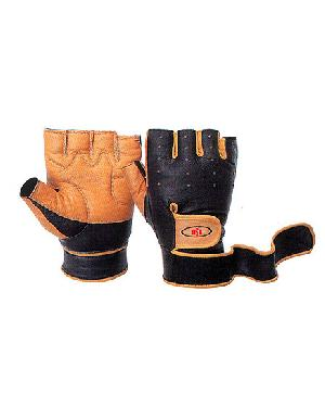 leather wrist gloves