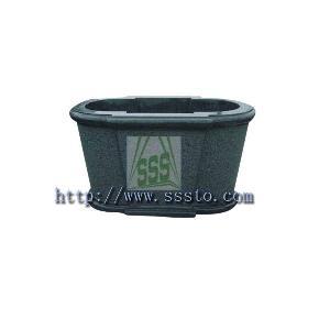 garden flower pot granite stone g654