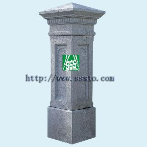 granite door surround entrance pier cap