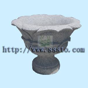 granite flower pot g603