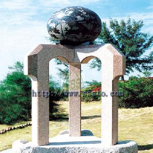 granite marble floated sphere