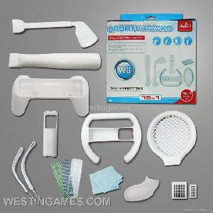 nintendo wii accessory 15in 1 sport pack