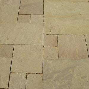 raj green paving stone sandstone