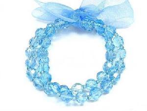 blue glass bead bracelet