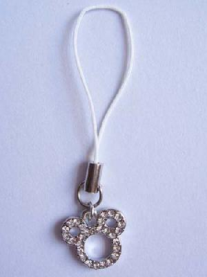 crystal stone cell phone strap