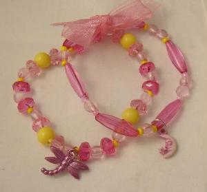 fashion pink bead bracelet