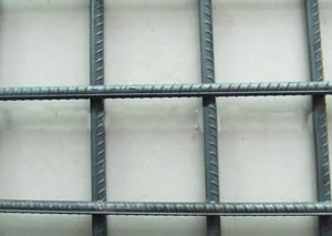 100mmx200mm rectangular rib concrete reforcing welded wire mesh