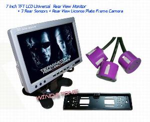 7 tft lcd universal monitor rearview camera 3 rear sensors rd 772sb3