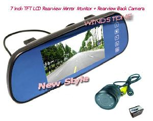 rearview camera built 7 tft lcd mirror monitor display rd 770s