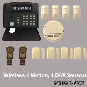 wired alarm system home wireless