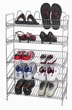 iron shoe rack shelf