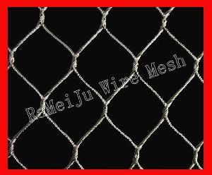 animal enclosure rope mesh zoo rameiju metal fabrics