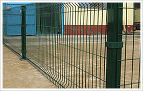 wire mesh fence pvc coated