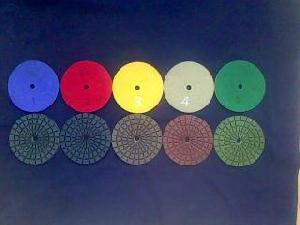 5 step polishing pads system