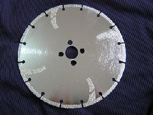 electroplated diamond blades flush holes