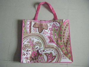 pink brwn paisley pp non woven bag
