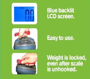 50kg electronic luggage scale auto lock