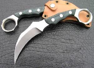 claw knife amy military d2 steel