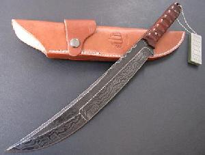 hunting knife ruffled steel 38 5cm