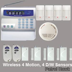 cellular comunication network wireless alarm system