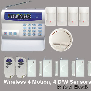 cellular network wireless security alarm system