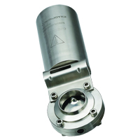 pneumatic butterfly valve flange thread weld clamp