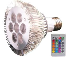 dimmable par30 rgb spotlight
