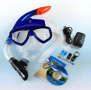 diving mask motion video recording