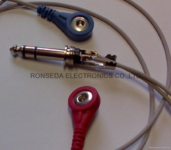 ecg cable 6 3 stereo snap