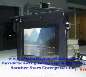 15 19 bus lcd media player advertising vehicle monitor screen display