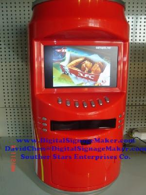 store campaigns lcd screen cola beer ad player vending machine pop pos coca