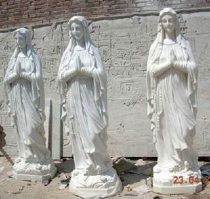 marble holy mother statue carving sculpture